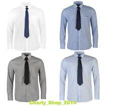 PIERRE CARDIN Hemd mit Krawatte 2 in 1 Business Look Langarm M L XL XXL XXXL