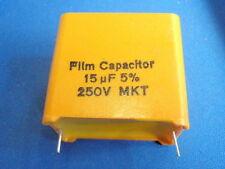 MONACOR MKT condensatore 15uf 250v GIALLO blocco 14227