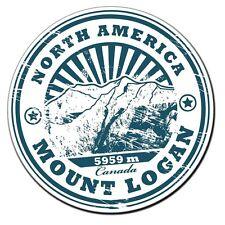 2 x North America Mount Logan Vinyl Sticker Laptop Travel Luggage #4018