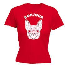 Bonjour Frenchie WOMENS TSHIRT birthday gift french bulldog puppy cute funny