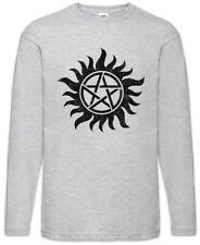 Anti Possession Symbol Herren Langarm T-Shirt Supernatural Pentagram Dean Fun