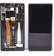 Pantalla TACTIL+LCD para Nokia LUMIA 3 negra con marco AZUL usado envio 24 horas