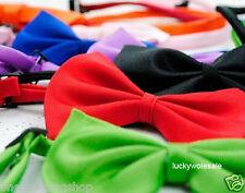 Noeud papillon chien Cou Col Collier acccessory couleurs lumineux chiot pet dickie bow