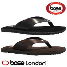 c9e7678f7fa3 MENS BASE LONDON LEATHER CASUAL SUMMER WALKING COMFORT GLADIATOR MULES  SANDALS