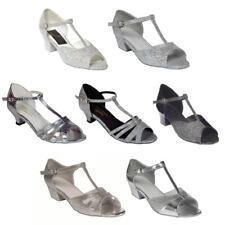 Tappers Et Pointers Filles Femme Argent Salle De Bal Chaussures De Danse
