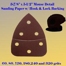 Mouse Detail Sander Sandpaper Hook & Loop 60-240 Grit For Craftsman Ryobi Dewalt