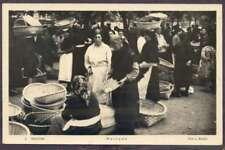 R Photo Spain Postcard Galicia Mercado Market Costumes