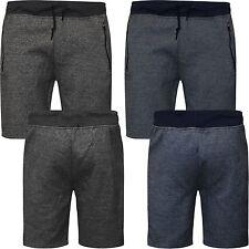 Mens Gym Fleece Jogger Shorts Plain Gym Elasticated Waist Running Pockets