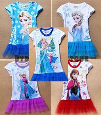 FROZEN girls dress short sleeve Elsa top t-shirt FROZEN summer