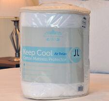 Keep Cool Cotton Mattress Protector Non Allergenic 38cm Deep Skirt 3D Air Relax