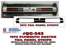 QG-543 1972 PLYMOUTH DUSTER - TAIL PANEL STRIPE KIT