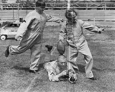 3 Three Stooges Moe Larry Curly football tee kick  8x10 11x14 16x20 photo 122