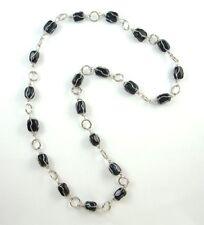 Halskette Edelstein Achat oder Jade 80 cm, Steinwahl