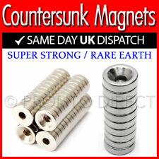 Neodymium Countersunk Ring Magnets 10x3x3 10x3x4 12x3x4 N35 Strong Disc Rare