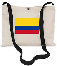 Colombian Flag Canvas Musette Bag 40x30cm, 150cm Long black adjustable strap