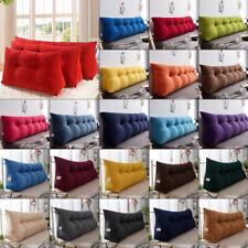 Triangular Wedge Lumbar Pillow Backrest Support Cushion Bolster Soft Headboard