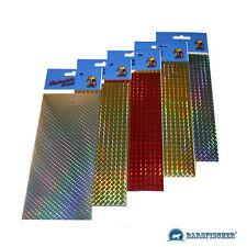REFLEXFOLIE, SCHUPPENMUSTER, HOLOGRAMM 2 St.-10 x 7,5 cm FLEX-FOIL, REFLEX-FOLIE