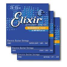 Elixir Nanoweb Níquel Herida Antioxidante Guitarra Eléctrica Cuerdas