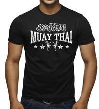New Men's Muay Thai Stars Black T Shirt MMA Fighting Martial Arts Beast Choke