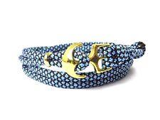 Anchor armband-paracord-verstellbar-wickelarmband- Baby Blue Diamonds