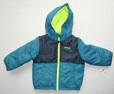 OSHKOSH Winterjacke türkis schwarz Gr. 92 -110 NEU Kapuze Jacke Anorak blau grün