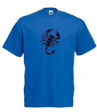 Stilizzata Tribal Scorpion grafiche di alta qualità 100% COTONE T-SHIRT MANICA CORTA