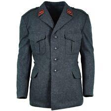 Genuine Swiss army wool jacket Switzerland military issue surplus uniform grey