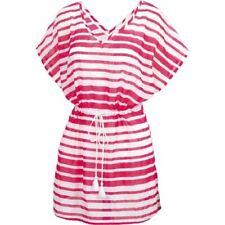 Fat Face - Women's - Woven Stripe Kaftan - Pink - 100% Cotton - BNWT