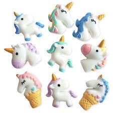 5pcs Mix Unicorn Resin Kawaii Flatback Cabochons Embellishment Decoden Craft
