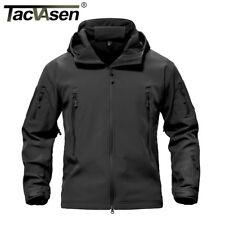 TACVASEN Tactical Soft Shell Jacket YKK Zipper Military Coat Police Men Jackets