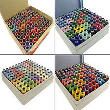Polyestergarn sortiert Farbe Spool Lieferungen Quilten Nähen Set von 100 Stück