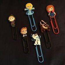 Frozen - Cartoon Paperclip Bookmark - Elsa Anna Kristoff Hans Olaf Sven - NEW