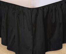 DUCK CLOTH SOLID BLACK BEDSKIRT DUST RUFFLE : twin, full, king