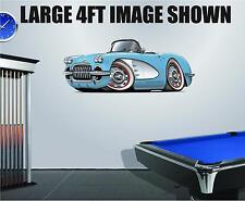 1958-60 Corvette Convertible  Wall Decal Sticker Graphic Garage Man Cave Decor