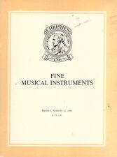 CHRISTIE'S Violin Violoncello Musical Instrument Catalog 80 Cappa Ceruti Testore