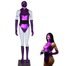 Sexy Halloween Costumes Mortal Kombat Mileena Cosplay Costume Purple Combat Suit