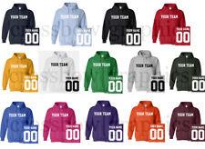 CUSTOM Hooded Sweatshirt Personalized ANY COLOR Name Number Team HOODIE Football