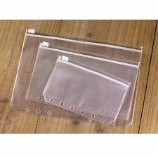 A5/A6/A7 Size Plastic Zip Lock Envelope Zipper Wallet Insert Refill Organiser
