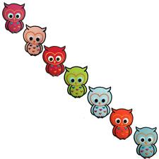 Toppe termoadesive - gufo animale bambini - diversi colori selezionabili - 6.7 x