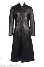 Men's RELOADED 1425 Black FULL-LENGTH Matrix Lambskin Leather Jacket Long Coat