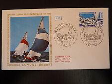 FRANCE PREMIER JOUR FDC YVERT 1889  LES JEUX OLYMPIQUES LA VOILE 1,2F PARIS 1976