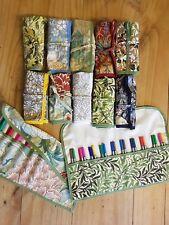 William Morris knitting crochet hook needle pencil holder roll case organizer.