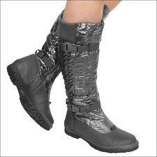Damen Stiefel Stiefeletten Winter Schuh Sneaker Outdoor Snow Boots Scuo T19 Grau