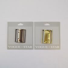 40mm Brushed Metal Rectangular Clasp Fastener Vogue Star