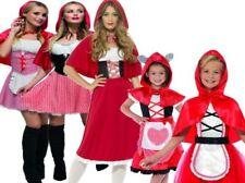 Girls Ladies Little Red Riding Hood Halloween Costume Fancy Dress World Book Day