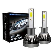 Pair LED Headlight Kits 6000LM FOG Light Bulb 6000K Driving DRL Lamp Gray