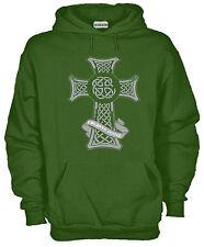 Felpa Con Cappuccio KJ1132 Fairylands Festival Croce Celtica Celtic Cross