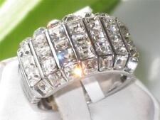 490 WOMENS PRINCESS CHUNKY SIMULATED DIAMOND RING NOT TARNISH STAINLESS STEEL