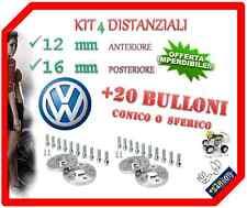 KIT 4 DISTANZIALI RUOTA 12+16mm 5x100 cb 57,1 Bullone SFERICO x VW BEETLE BORA