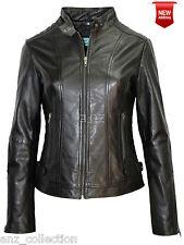 Madrid New Ladies Black Stylish Fashion Designer Soft Quilt Real Leather Jacket